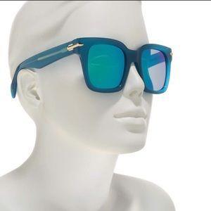 Rag & Bone oversized 51mm blue sunglasses
